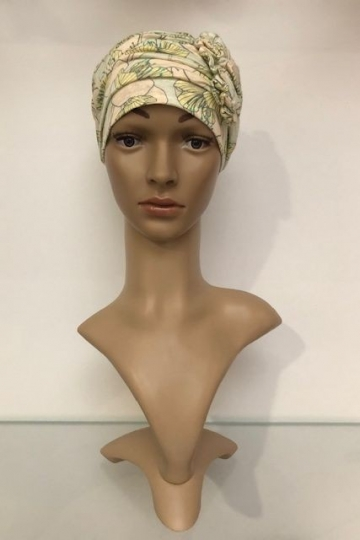 Bambusový turban s aplikací Twisted Ribbons