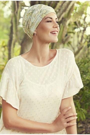 Bambusový turban s našitou čelenkou Blooming Season
