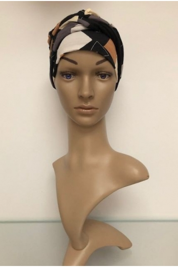 Bambusový turban s našitou čelenkou Shapes of Browns