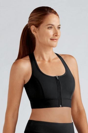 Amoena Sportovní protetická podprsenka ZIPPER bra black