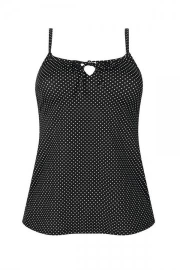 Amoena protetické tankiny ROMANTIC DOWNTOWN TA black/white dots