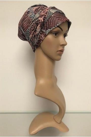 Turban s našitou čelenkou Rococo Rose