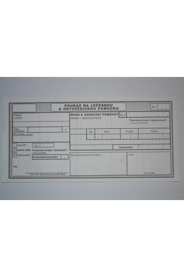 Zdravotní poukaz na pooperační epitézu- priform